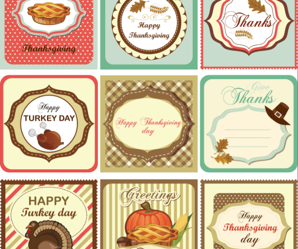 Printable Thanksgiving tags