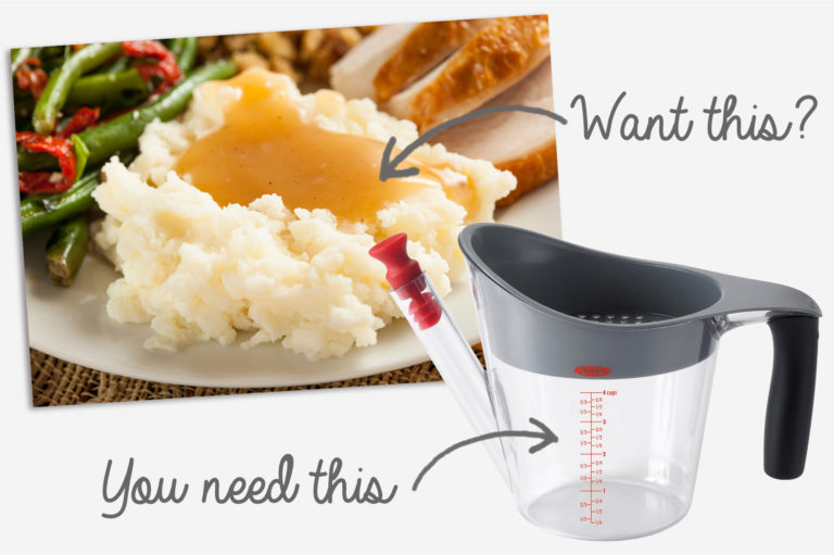 Get perfect gravy - use a fat separator | MakeItGrateful.com