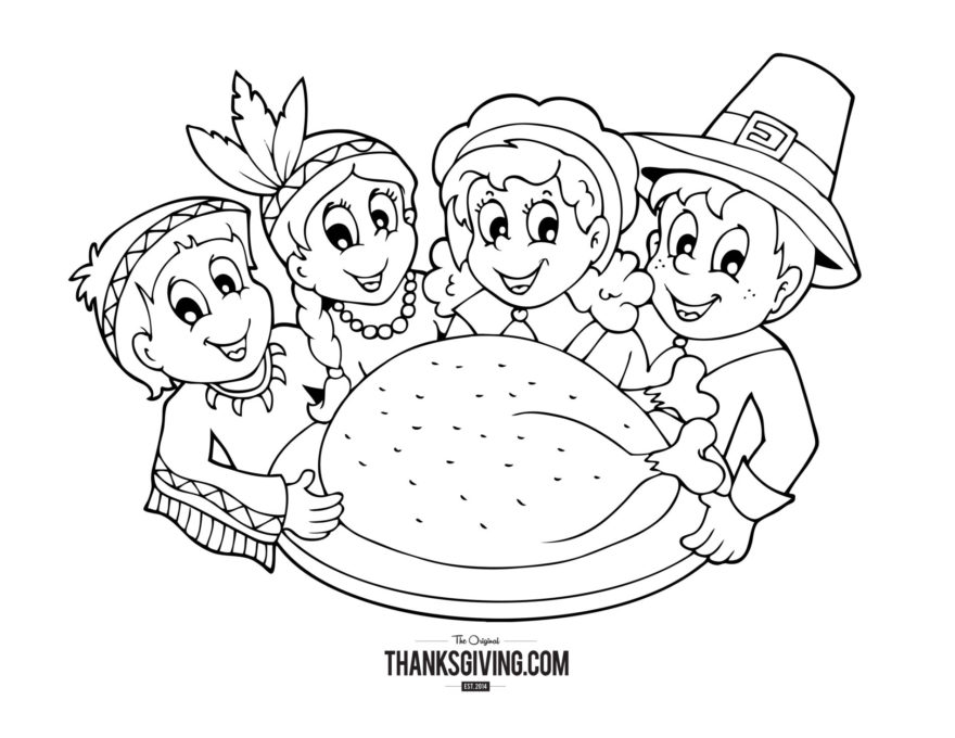 thanksgiving coloring book pages for kids - Thanksgiving Coloring Books