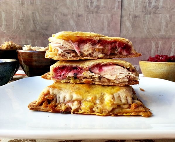 Use up Thanksgiving turkey meat leftovers with this hot pocket recipe