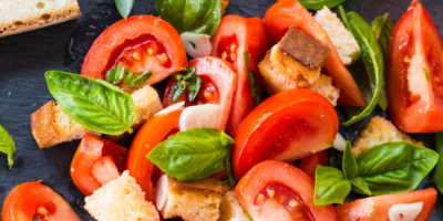 Fresh Bruschetta Salad as a Thanksgiving side dish | Thanksgiving.com