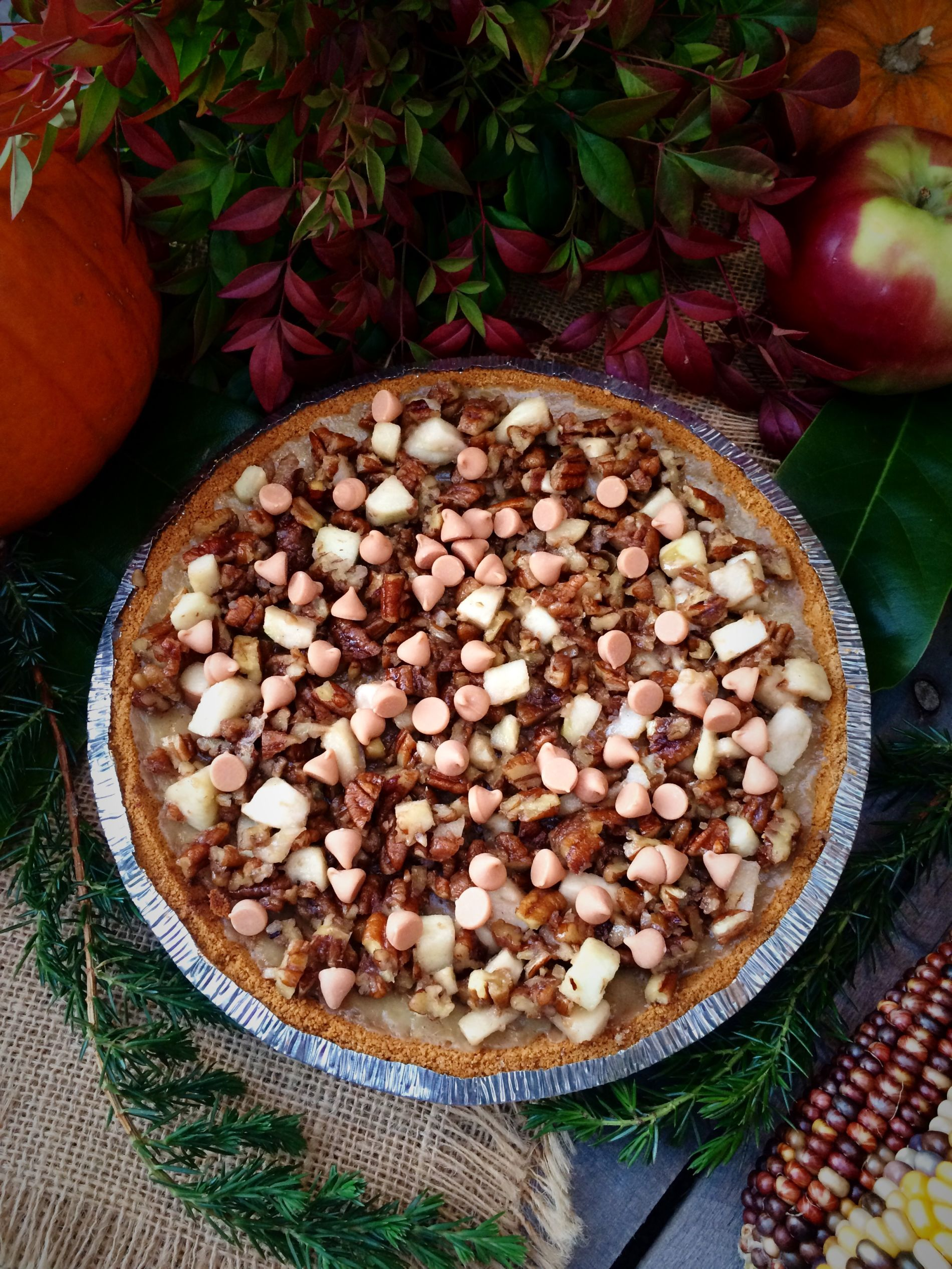 Butterscotch apple cream pie for Thanksgiving