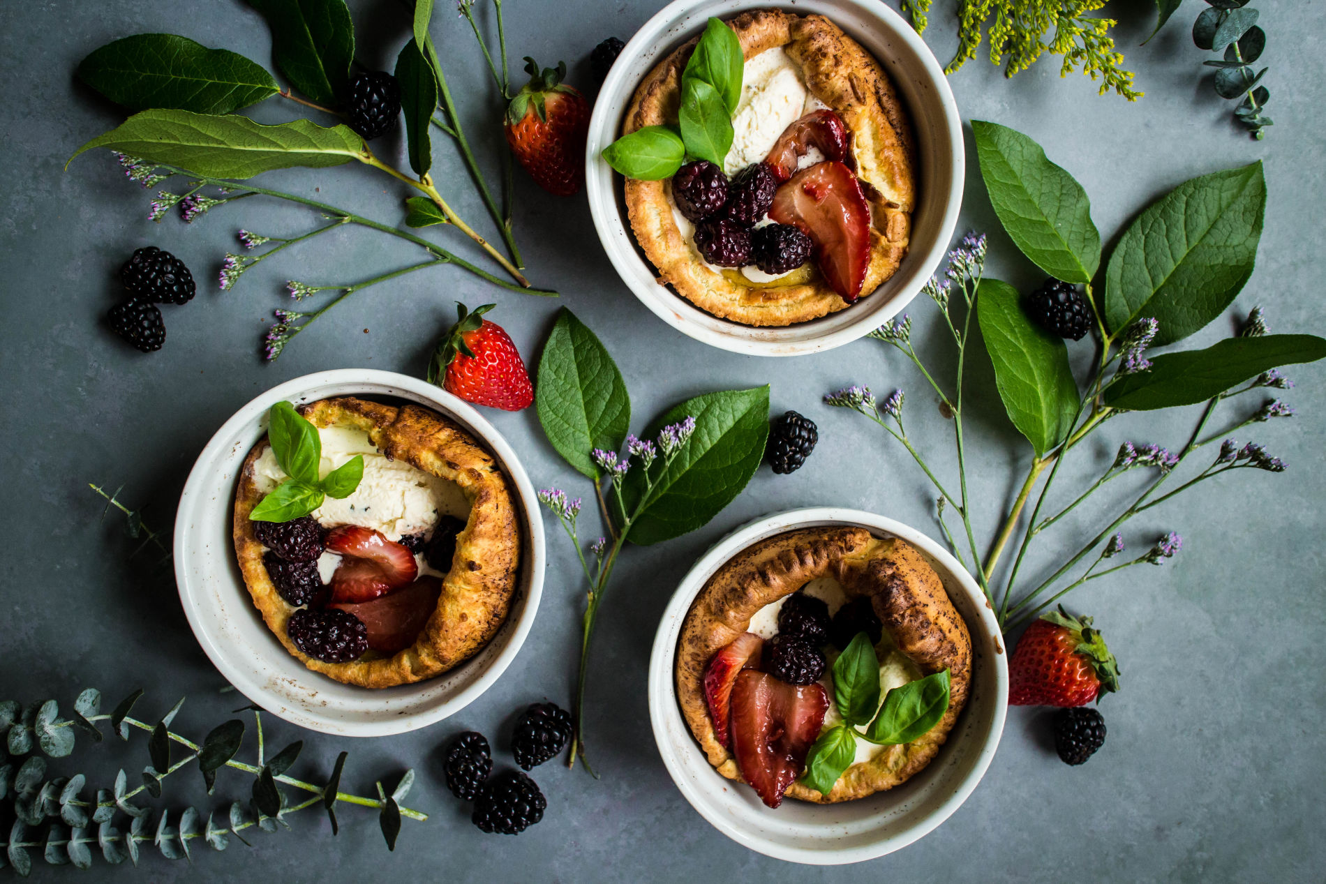 Mini Dutch Babies for Easter brunch from MakeItGrateful.com