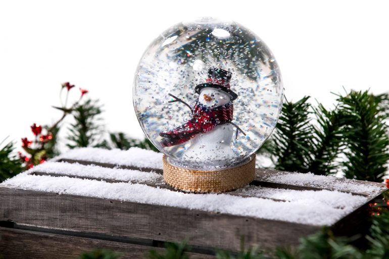 Homemade snow globe craft project