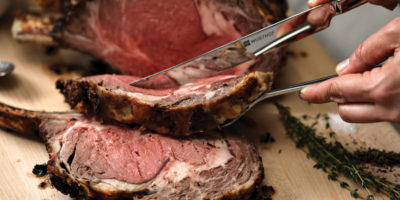 Slow-roasted prime rib of beef - cooked