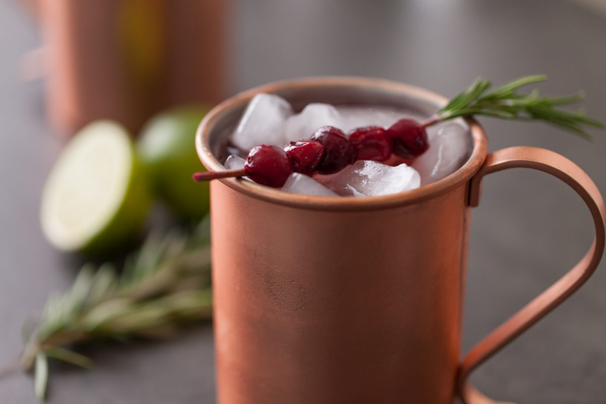 Cranberry wine Moscow mule recipe