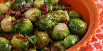 Maple-balsamic Brussels sprouts with bacon