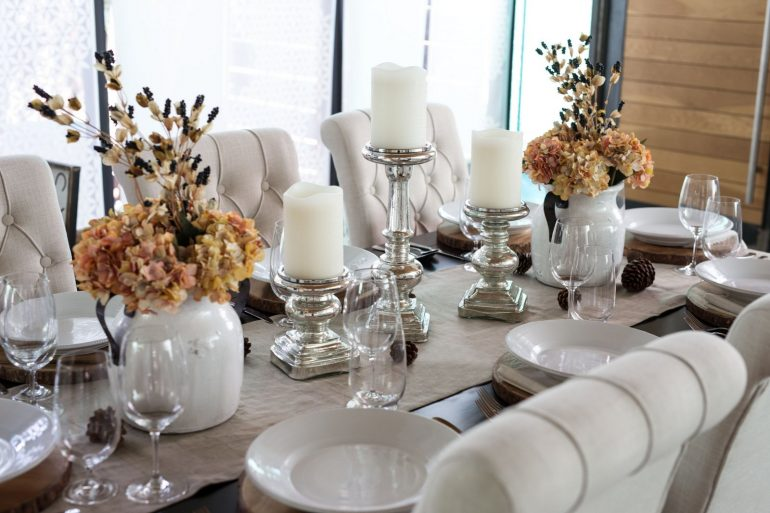 Beautiful holiday table - by Grateful