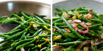 Green beans with citrus and almonds