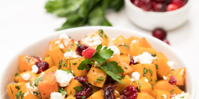 Maple-balsamic roasted butternut squash with garlic