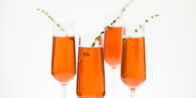 Pomegranate thyme bubbly rosé