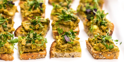 Smoky guacamole toasts with pepitas