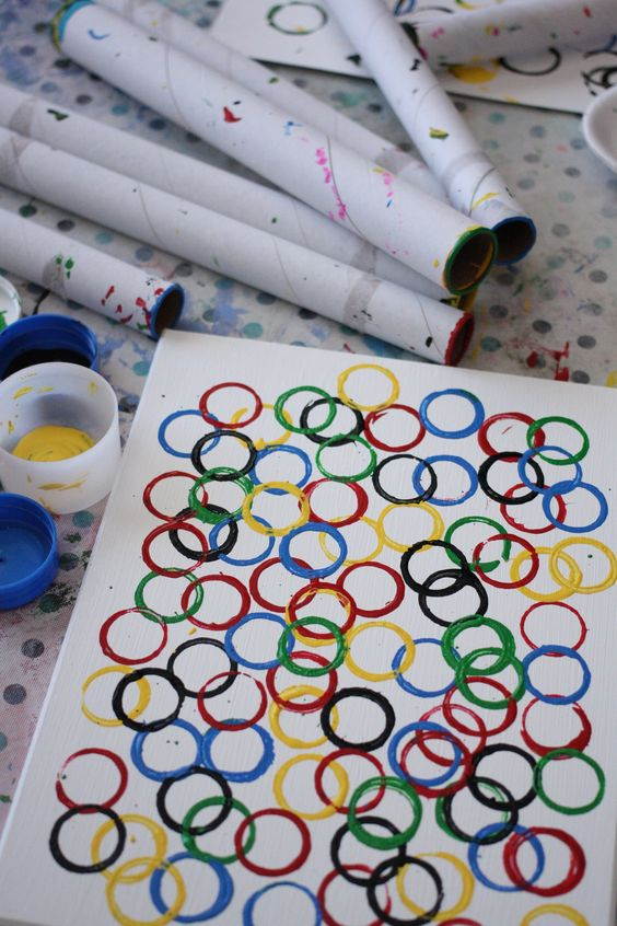 Olympic ring art