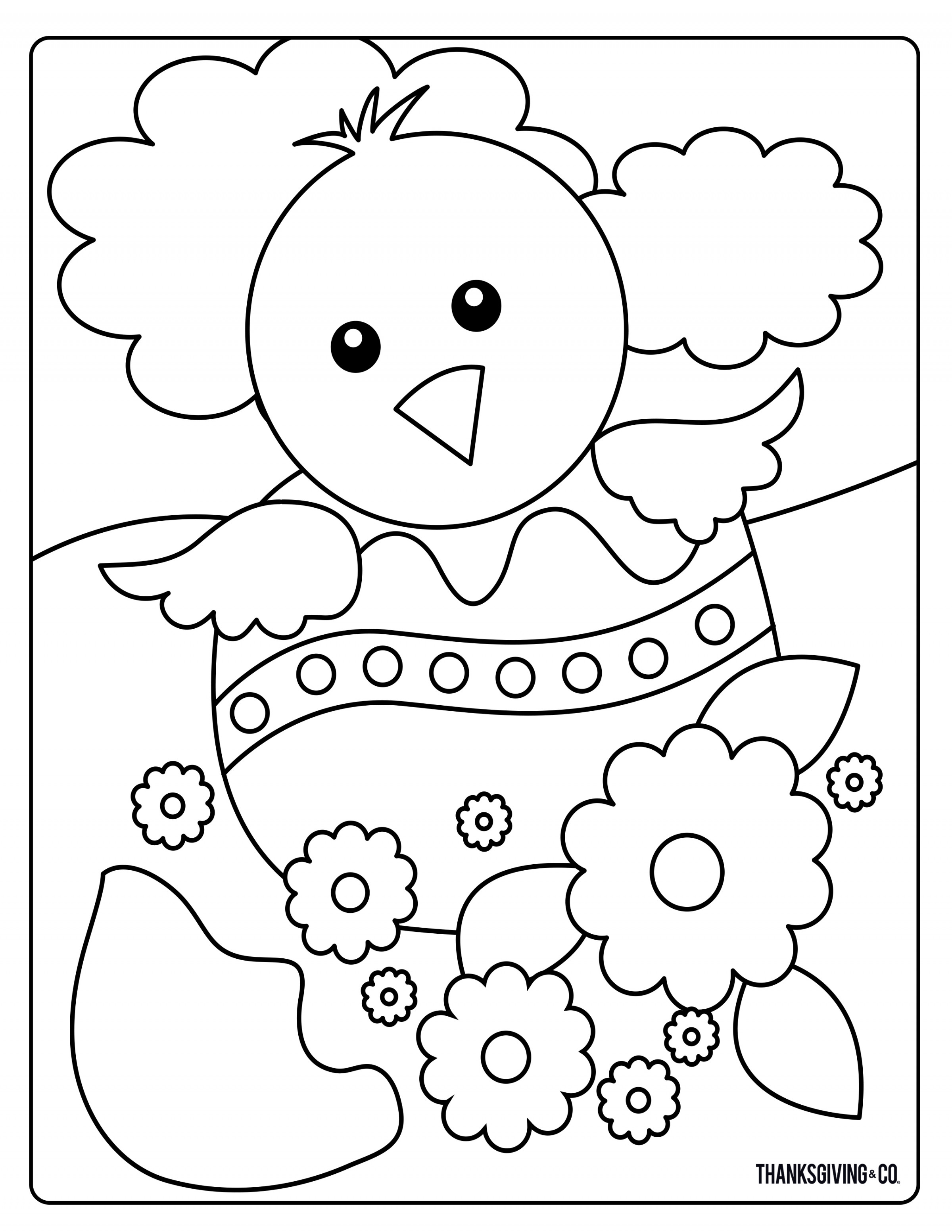Sweet and sunny spring & Easter coloring pages