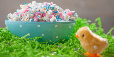 Easter candy popcorn mix