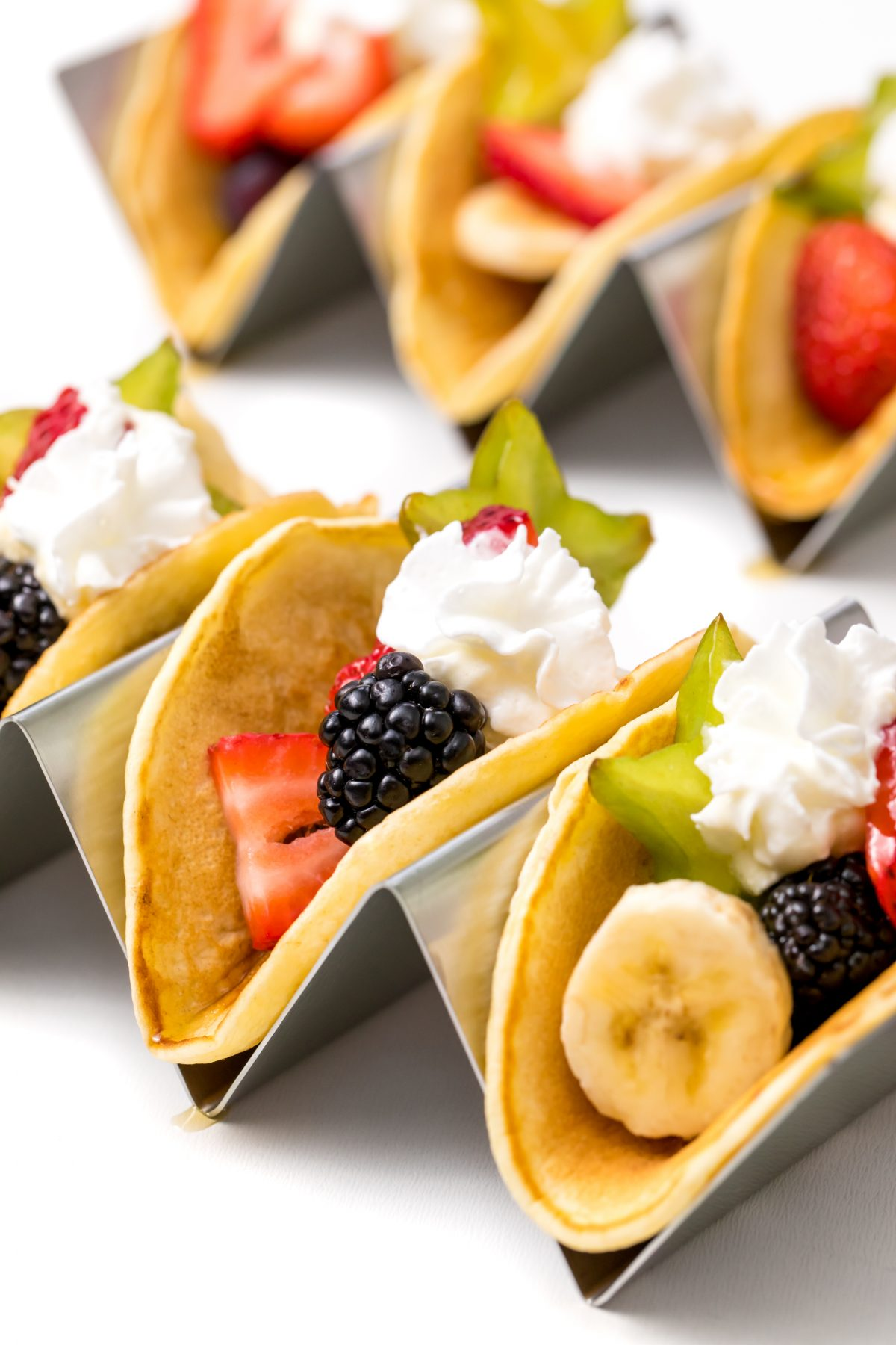 How great do these pancake fruit tacos look?