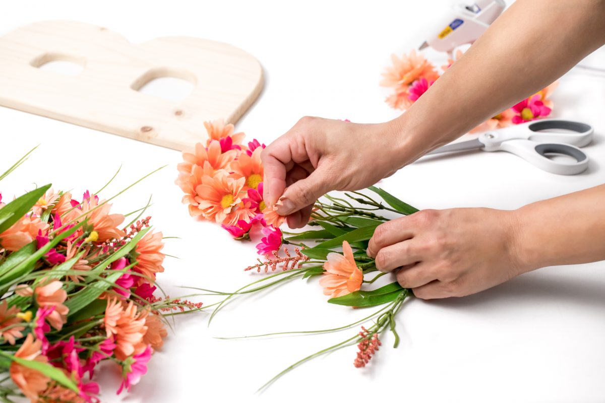 Continue taking flowers off of stems