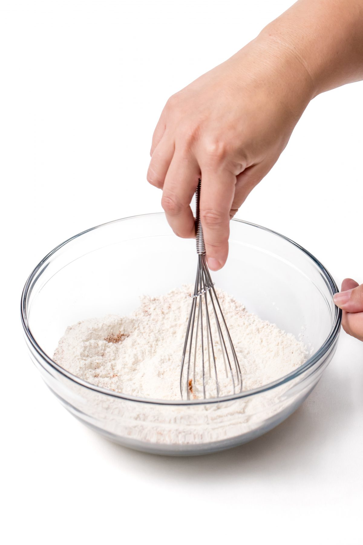 Whisk flour and seasonings together in mixing bowl