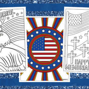 Memorial Day coloring pages and cards