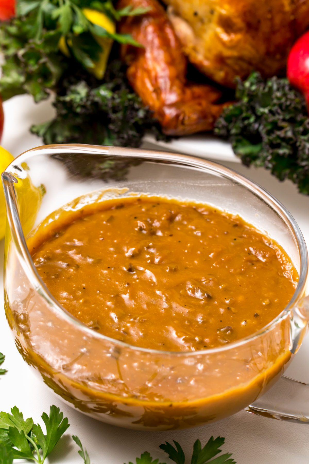 5D4B3268 - James Beard Roasted Turkey - Savory and classic gravy to complete the meal!