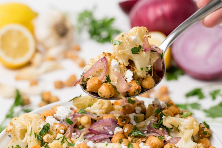 5D4B3896 - Cauliflower salad with Lemon tahini dressing
