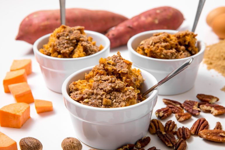 5D4B8957 Sweet Potato Baked Oatmeal with Pecan Crumble