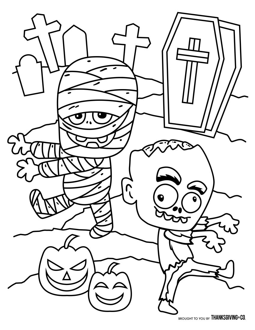 Ambitious image within free printable halloween coloring pages