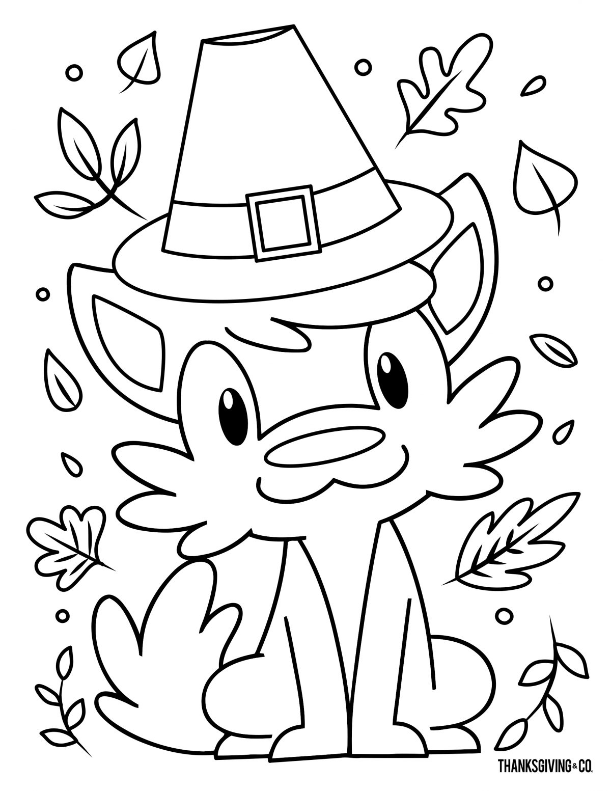 Thanksgiving Coloring 1