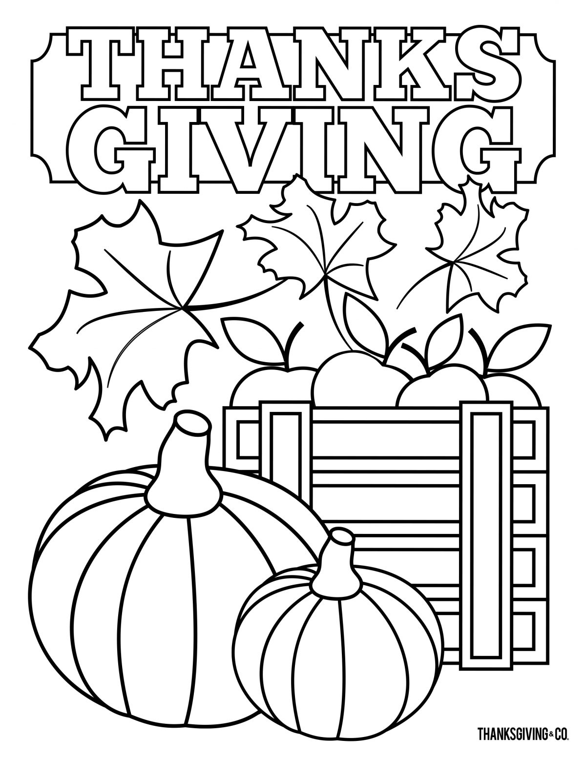 Thanksgiving Coloring 2