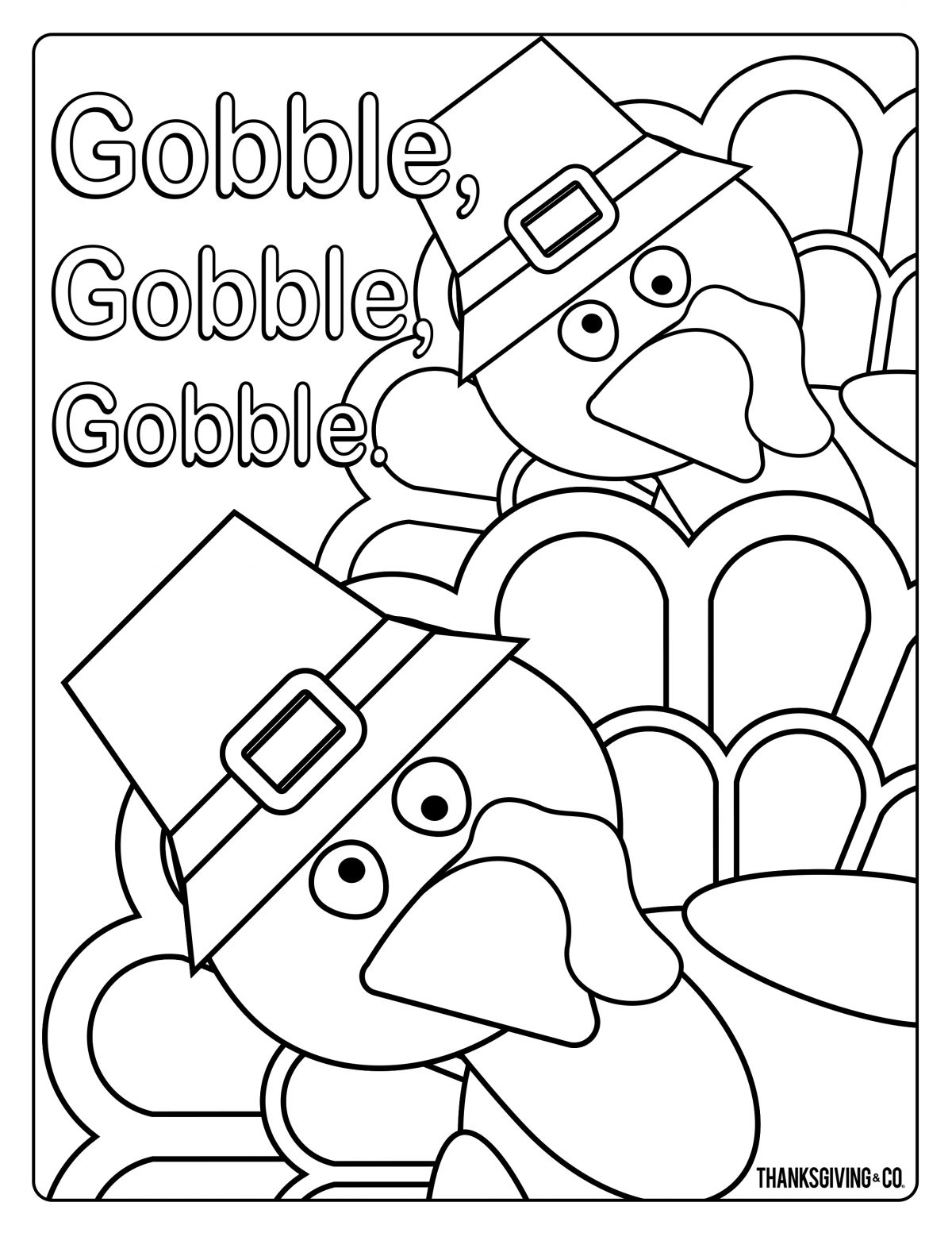 Thanksgiving Coloring 3
