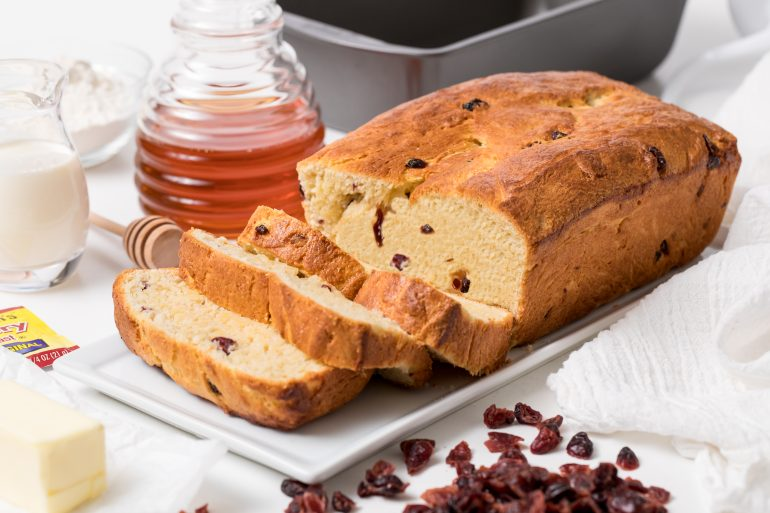 5D4B5980 - Honey and Cream Cranberry Bread