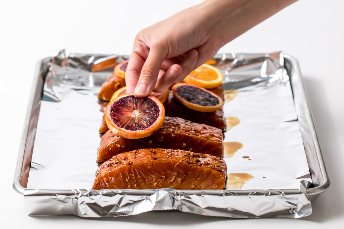 5D4B1396 - Salmon Yakisoba with Blood Oranges - Roast the salmon