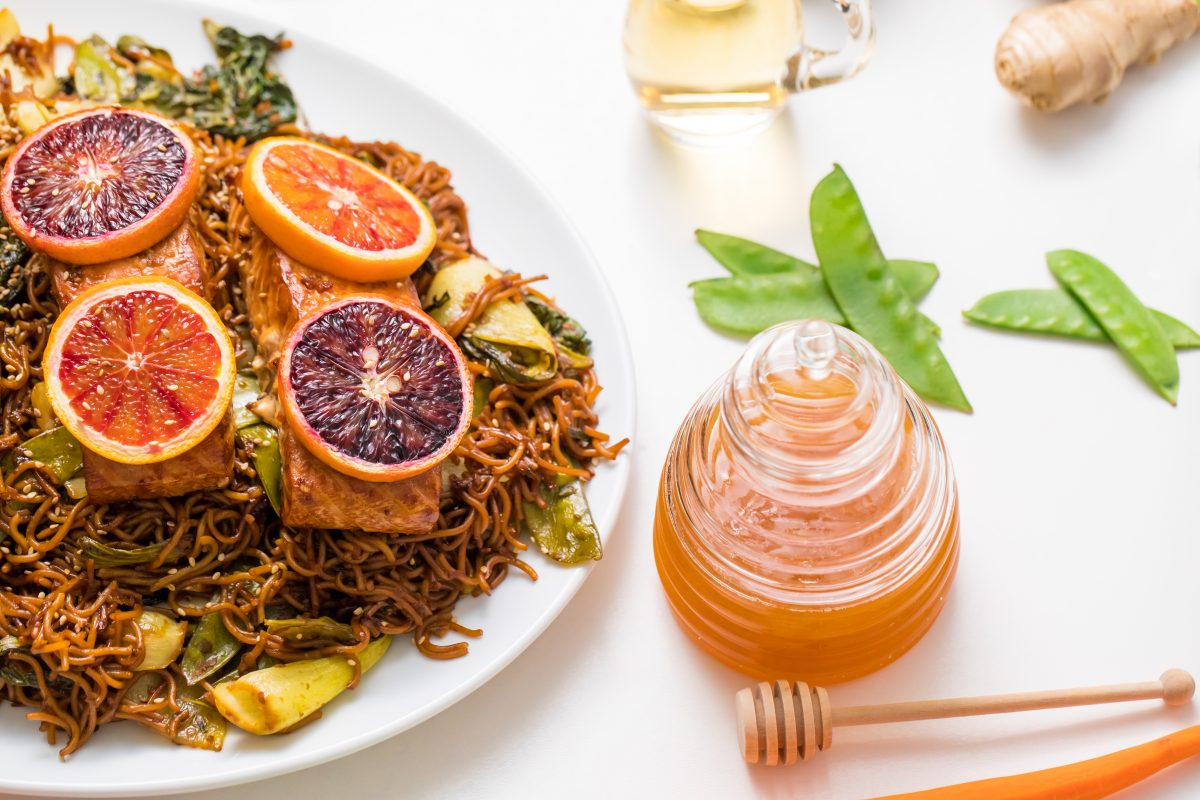 5D4B1705 - Salmon Yakisoba with Blood Oranges - A simply stunning dish