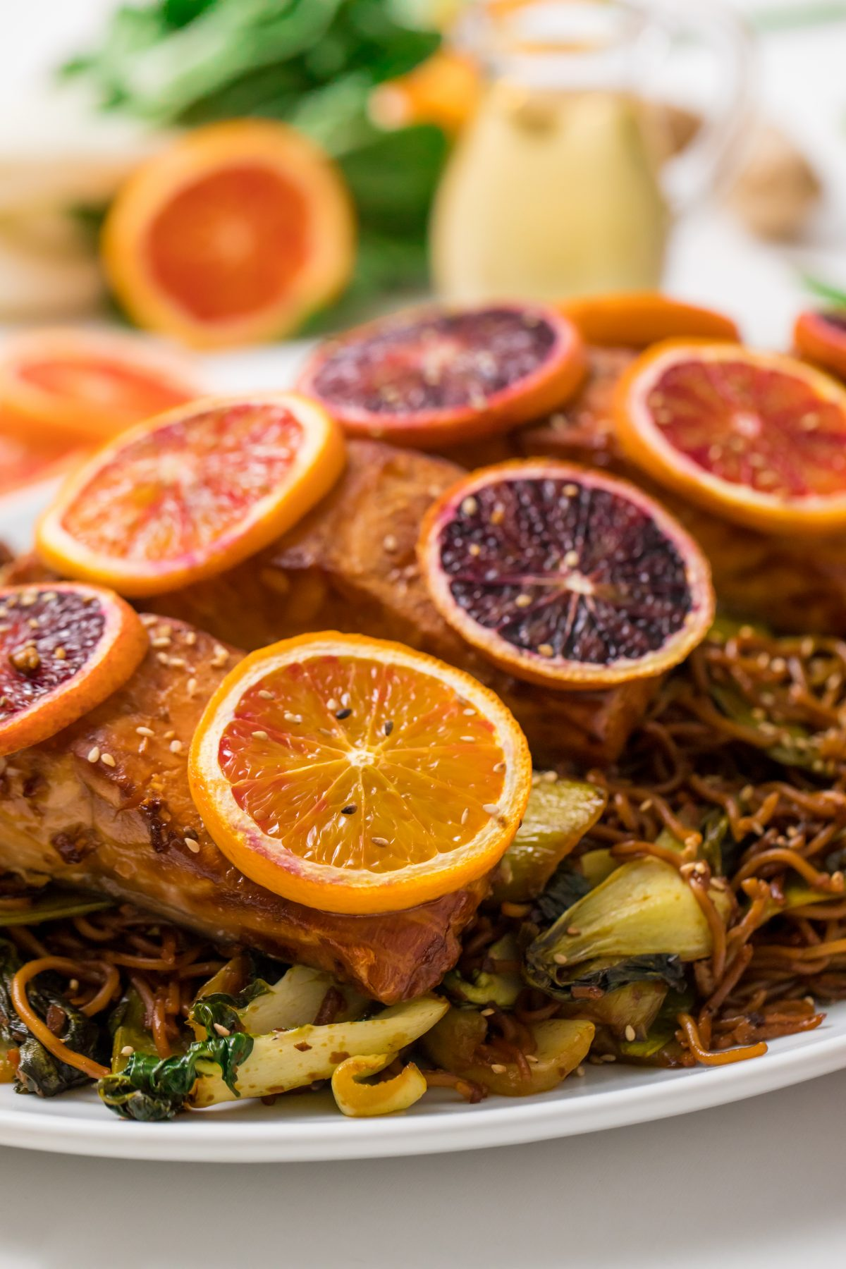 5D4B1766 - Salmon Yakisoba with Blood Oranges