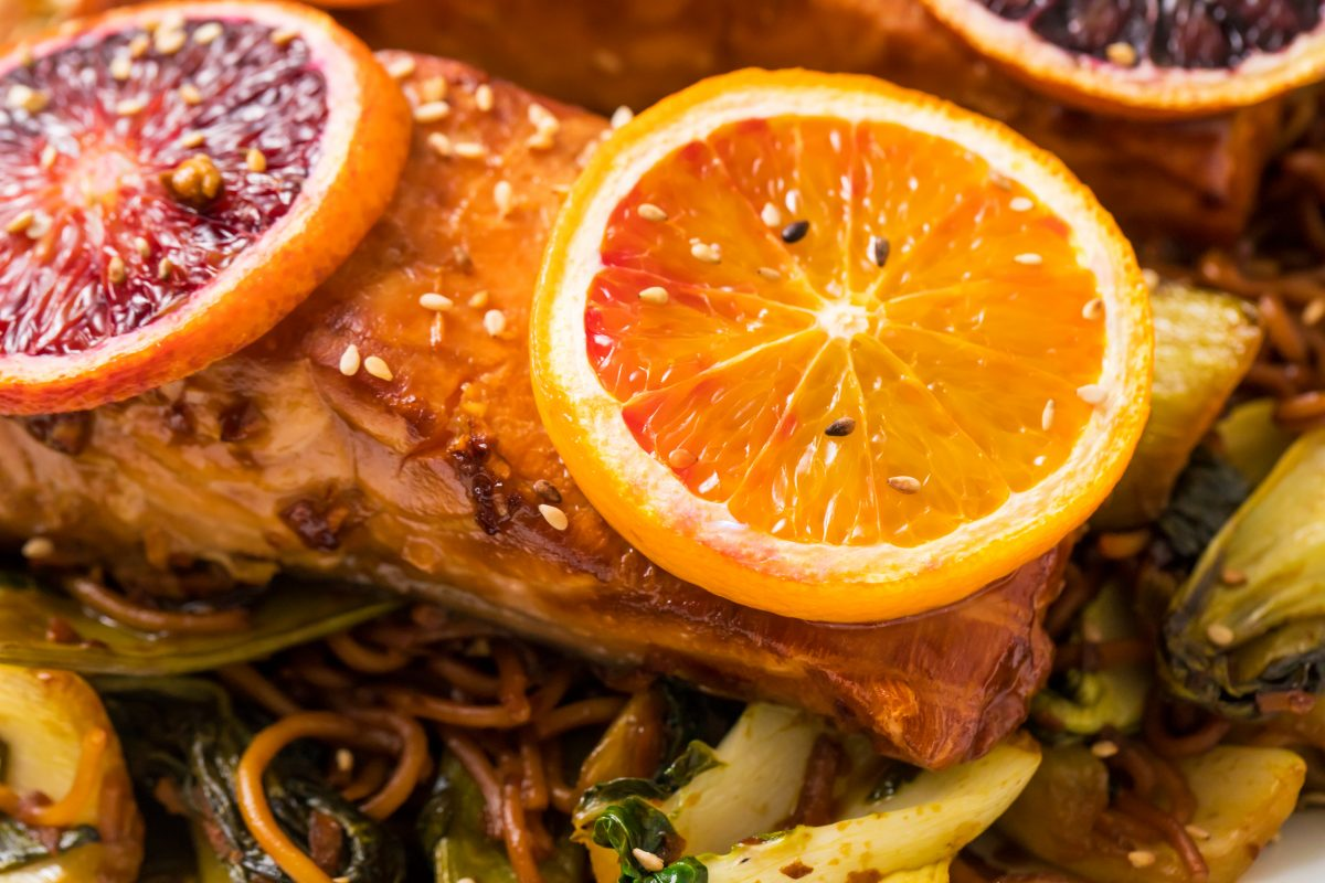5D4B1769 - Salmon Yakisoba with Blood Oranges