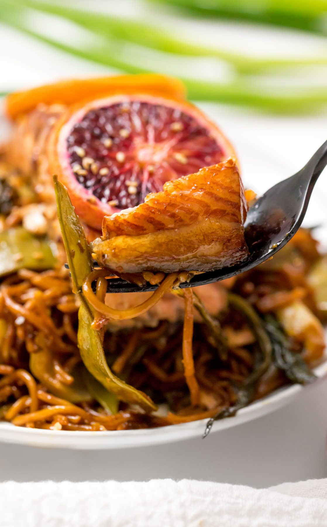 5D4B1904 - Salmon Yakisoba with Blood Oranges