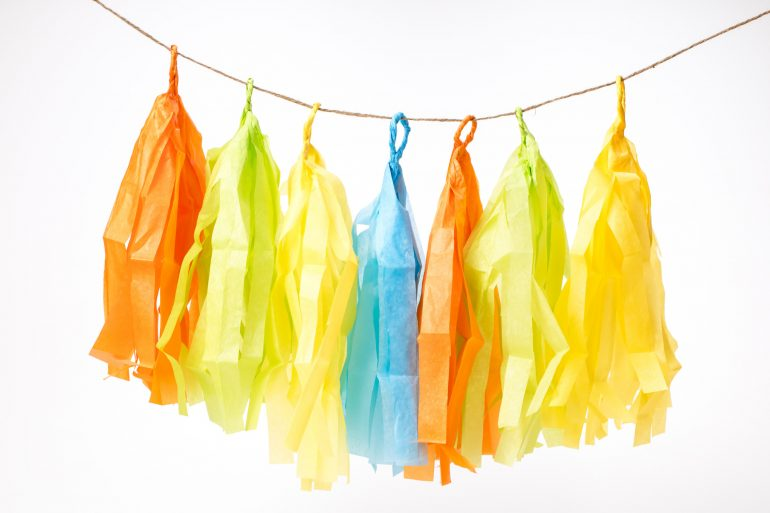 5D4B3551 - Father s Day Banner - streamers hung by hemp string in the air