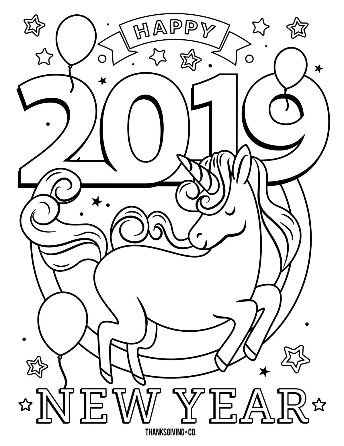 NewYear Coloring 4