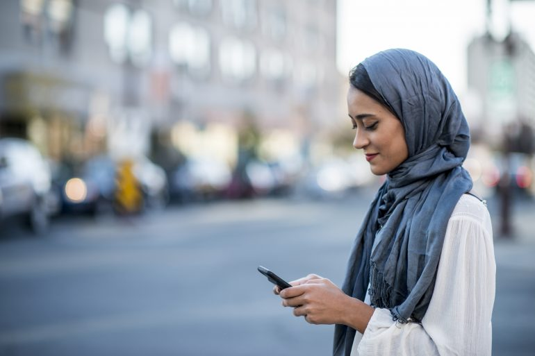 Apps and products Muslim woman
