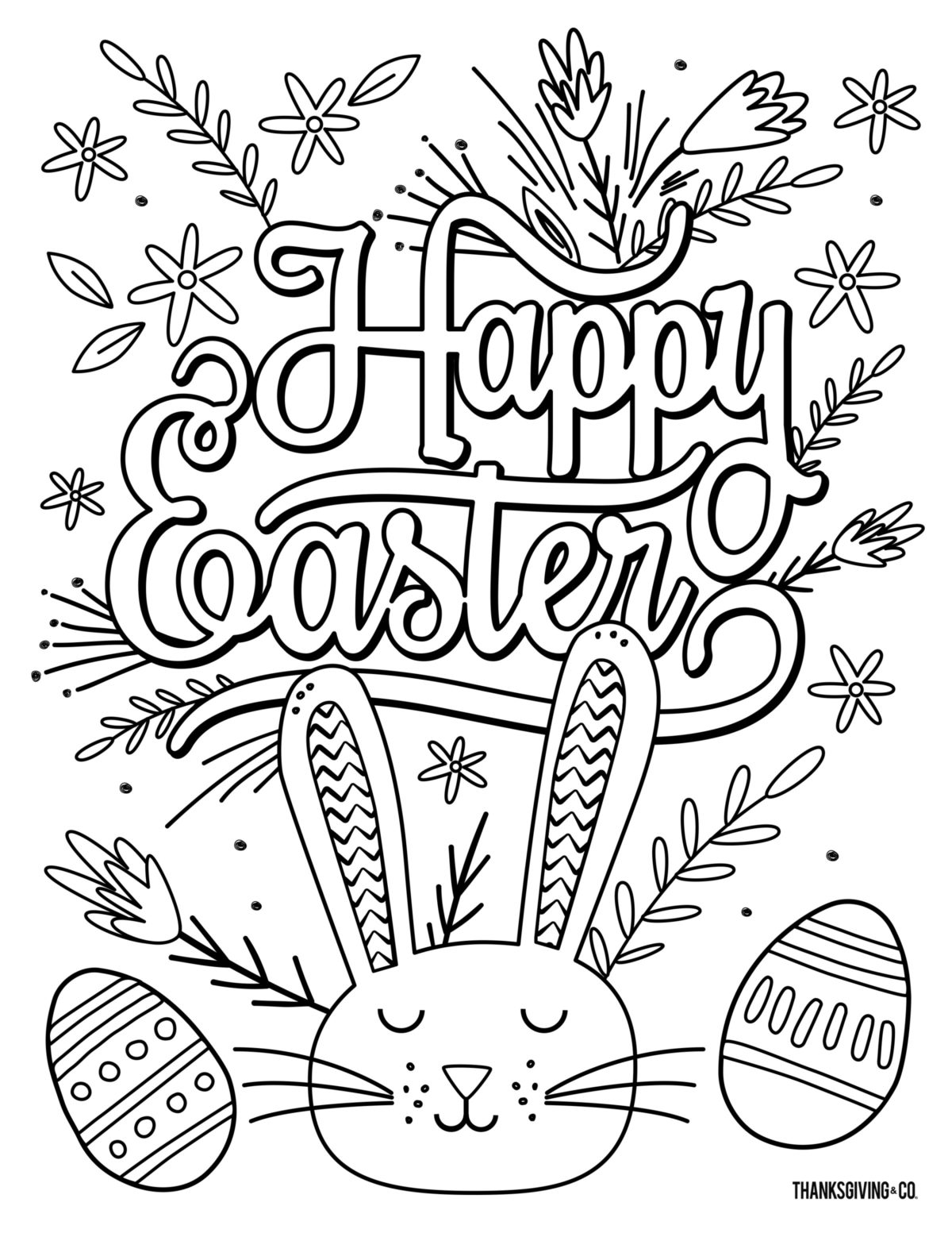 Easter ColoringBook Adult 5