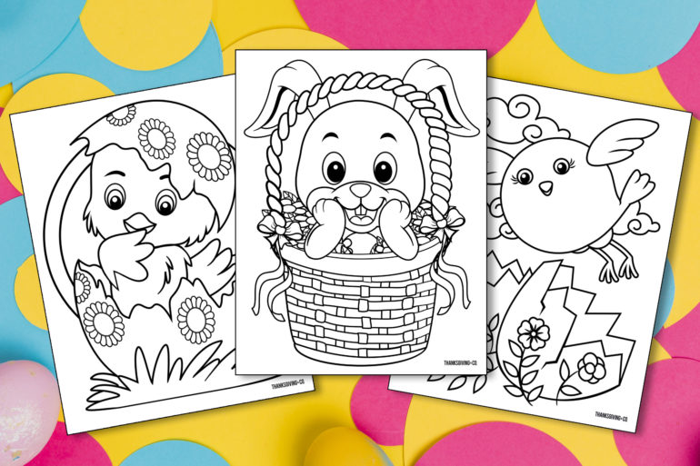 Easter Kids Coloring Main