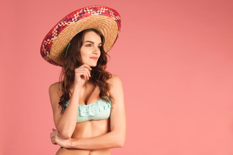 Girl with sombrero