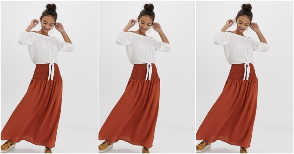 red-maxi-skirt