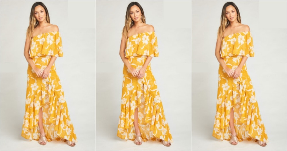 yellow-floral-ruffle-dress