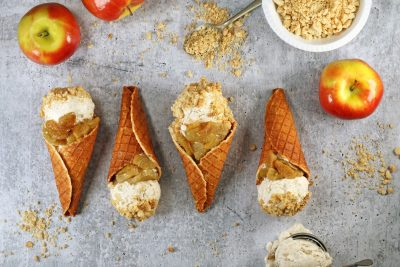 keto apple cobbler cones
