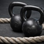 kettlebell and battle ropes functional training