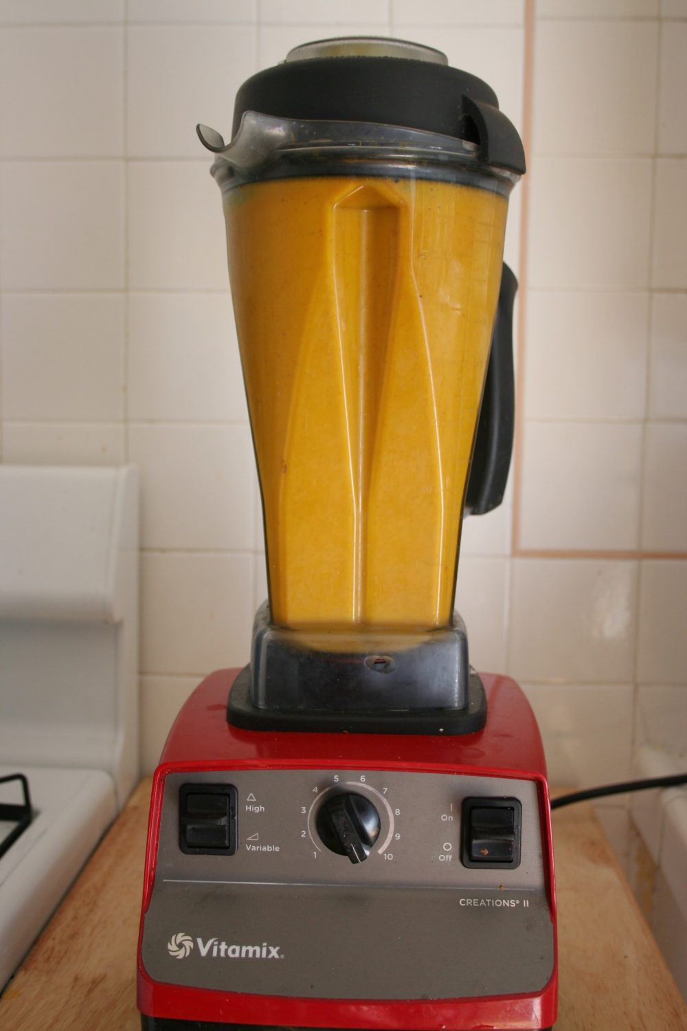 pumpkin soup in blender
