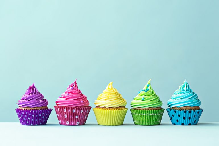 rainbow frosting cupcakes natural food coloring