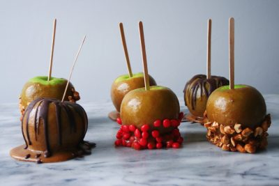 vegan caramel apples final beauty