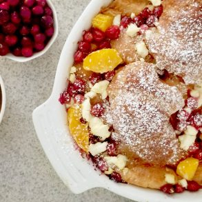 Cranberry orange French toast bake FI